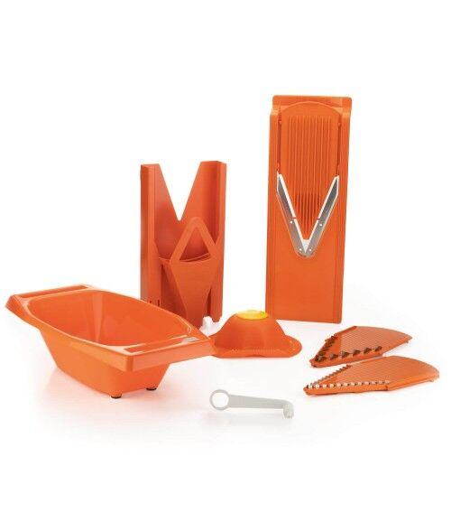 Mandoline V3 TrendLine + Multibox de Rangement + Saladier + Chatouillard, Spécial Set